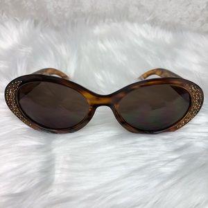 BETSEY JOHNSON Cat Eye Rhinestone Sunglasses